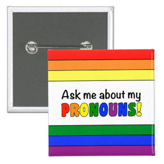 Pronouns Button (Rainbow)