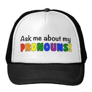 Pronouns Trucker Hat (Rainbow)