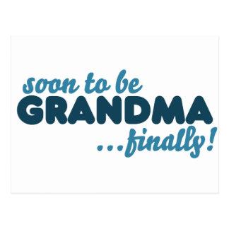 Pronto para ser abuela finalmente postal
