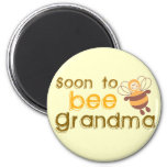Pronto para ser abuela imán para frigorífico