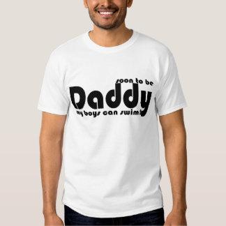 Pronto para ser día de padres divertido del papá remeras