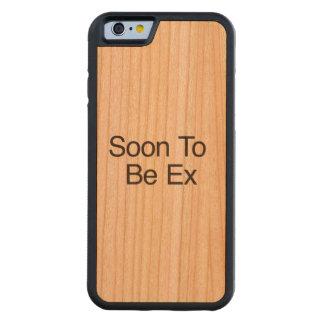 Pronto para ser ex funda de iPhone 6 bumper cerezo