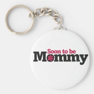 Pronto para ser mamá llaveros personalizados