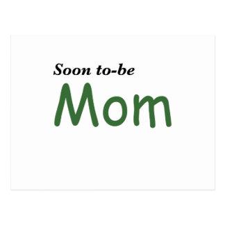 Pronto para ser mamá postal