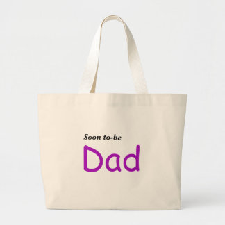Pronto para ser papá bolsas lienzo