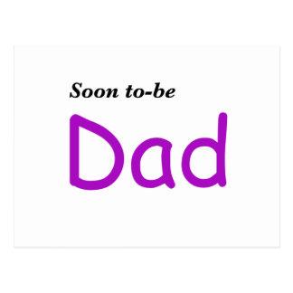 Pronto para ser papá postales