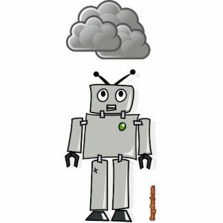 Pronto para ser robot oxidado fotoescultura vertical