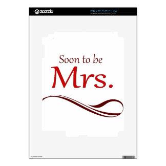 Pronto para ser señora calcomanía para iPad 2