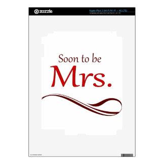 Pronto para ser señora iPad 3 pegatinas skins