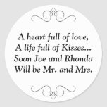 Pronto Sr. y señora Round Sticker Pegatinas Redondas