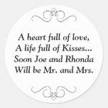 Pronto Sr. y señora Round Sticker Pegatinas