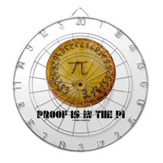 Proof Is In The Pi (Pi On Baked Pie) Dart Board