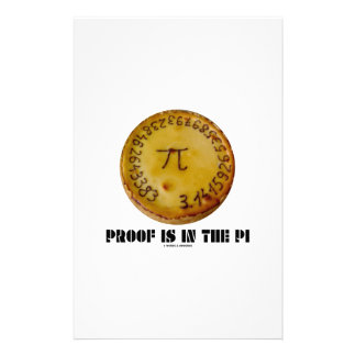 Proof Is In The Pi (Pi On Baked Pie) Stationery