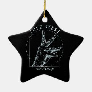 Proof of Concept White Logo Ceramic Ornament
