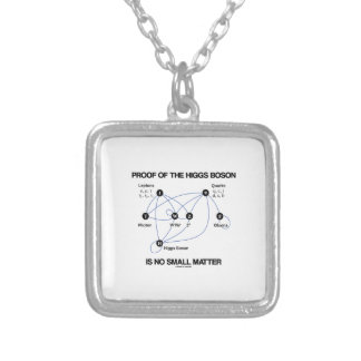 Proof Of The Higgs Boson Is No Small Matter Silver Plated Necklace