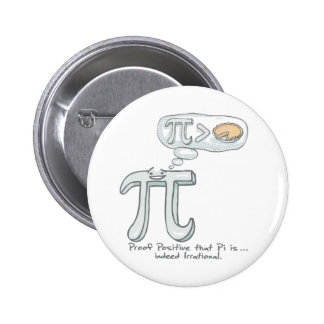 Proof that Pi is Irrational Pinback Buttons