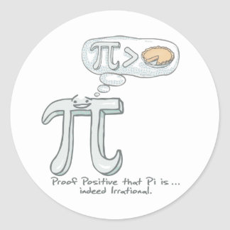 Proof that Pi is Irrational Classic Round Sticker
