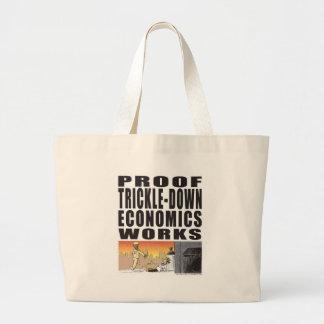 Proof Trickle-Down Economics Works Canvas Bags