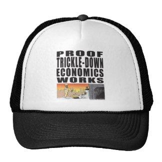 Proof Trickle-Down Economics Works Trucker Hat