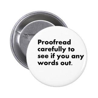 Proofread 2 Inch Round Button