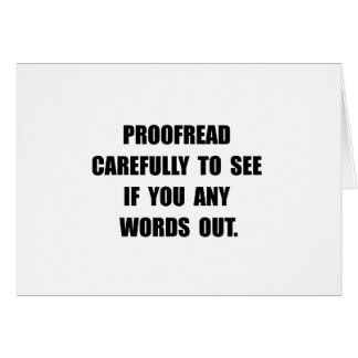 Proofread Card