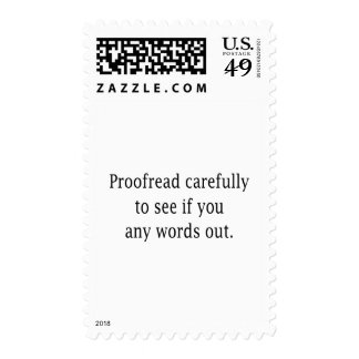 Proofread Carefully Stamp