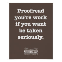 Proofread You're Work Poster