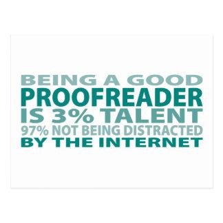 Proofreader 3% Talent Postcard