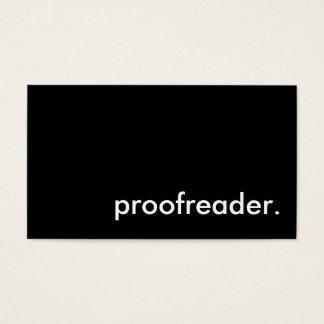 proofreader. business card