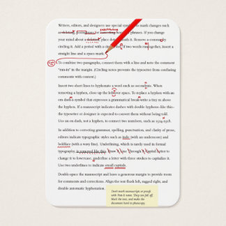 proofreader/copywriter business card