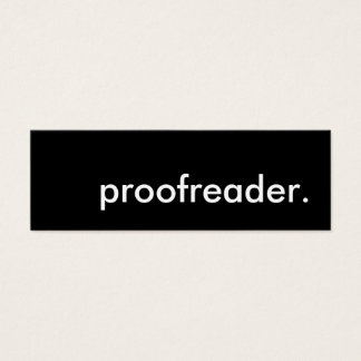 proofreader. mini business card