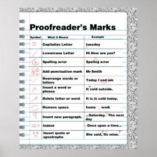 Proofreader s Marks Poster