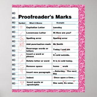 Proofreader's Marks Poster