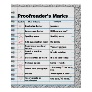 Proofreader's Marks Poster