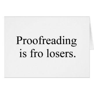 proofreading greeting card