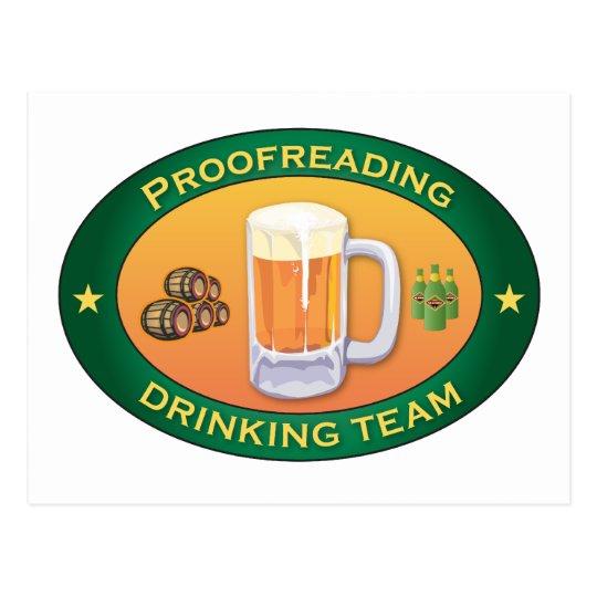Proofreading Drinking Team Postcard