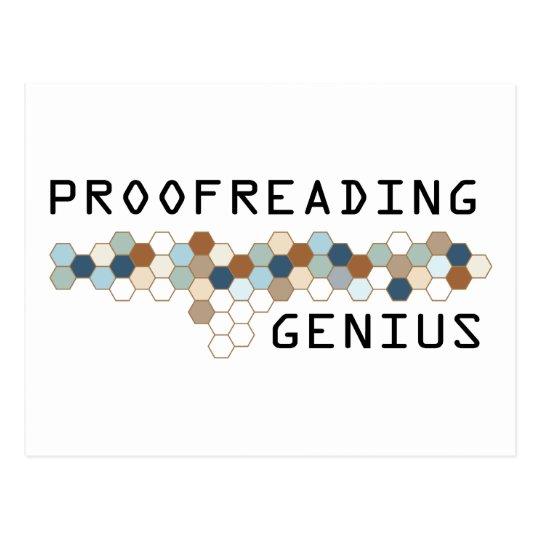 Proofreading Genius Postcard
