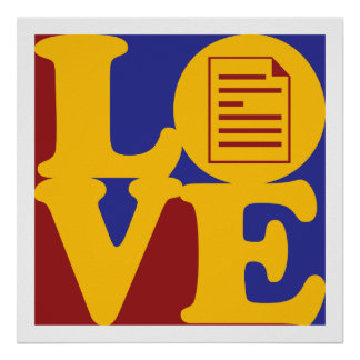 Proofreading Love Poster