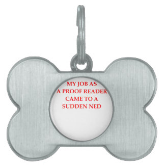 proofreading pet name tag
