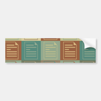 Proofreading Pop Art Car Bumper Sticker