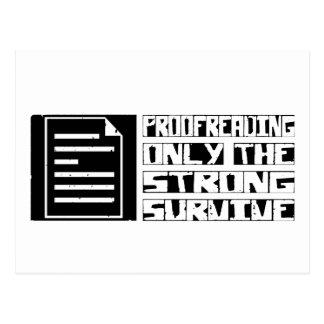 Proofreading Survive Postcard