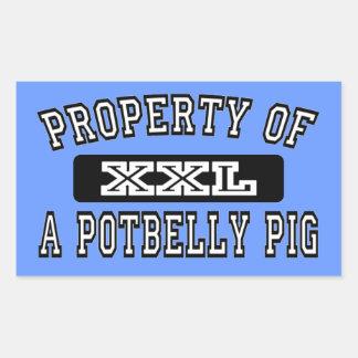 Prop Of Potbelly Pig Rectangular Sticker