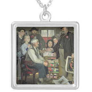 Propaganda, 1889 silver plated necklace