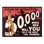 PROPAGANDA 1914 de AUSTRALIA de la tarjeta de los  Postales