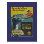 PROPAGANDA 1914 de CANADÁ de la tarjeta de los col Tarjetas Postales
