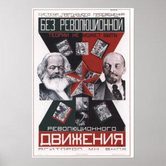 Propaganda 1927 de URSS Unión Soviética Poster