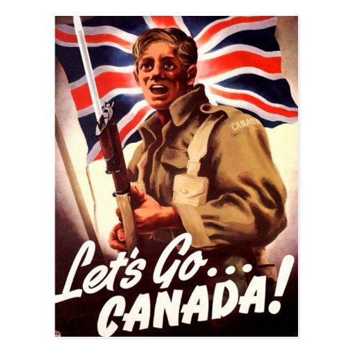 Propaganda canadiense de la guerra tarjetas postales