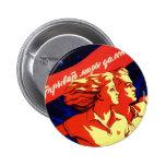 Propaganda comunista del espacio del vintage ruso pin