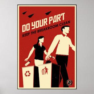 Propaganda de la oficina: Breakroom Póster
