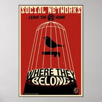 Propaganda de la oficina: Red social Posters